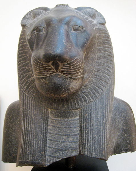 Statue of the goddess Sekhmet from the temple of Mut at Luxor (Source: Wikimedia Commons).