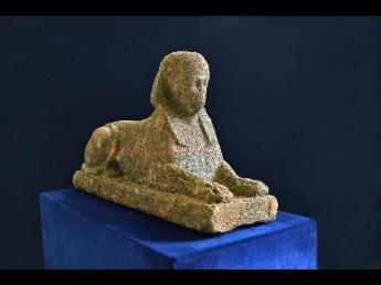 Sculpture probably decorated an Etruscan tomb or country villa (Source: Gazetta del Sud).
