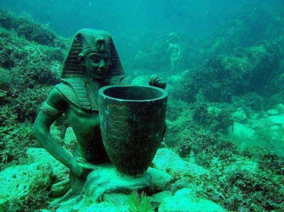 Underwater treasures at Alexandria.