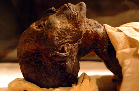 The mummy of Amenhotep II (Source: The Theban Royal Mummy Project).