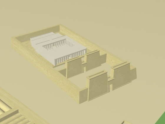 Virtual reconstruction of the mortuary temple of Amenhotep II (Source: Digital Egypt).