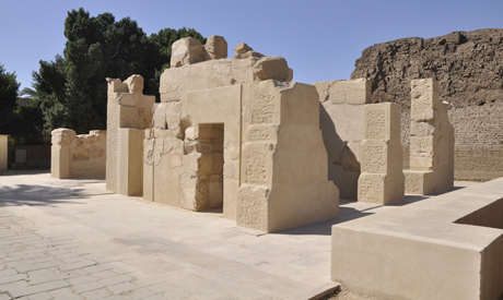After reconstruction, the limestone chapel of queen Hatshepsut will be put on display for the first time at Karnak Temples' open air museum (Source: Ahram Online).