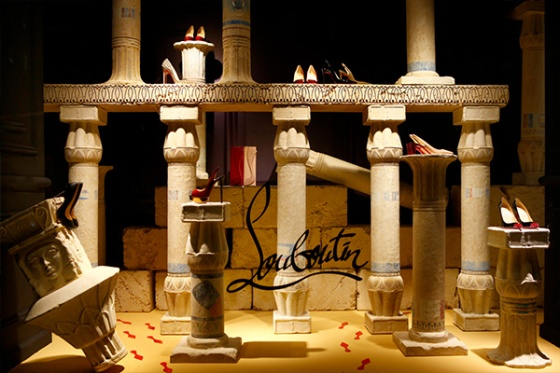 One of the Louboutin window displays (Source: Refinery 29).