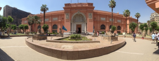 Panoramic view of the Egyptian Museum.