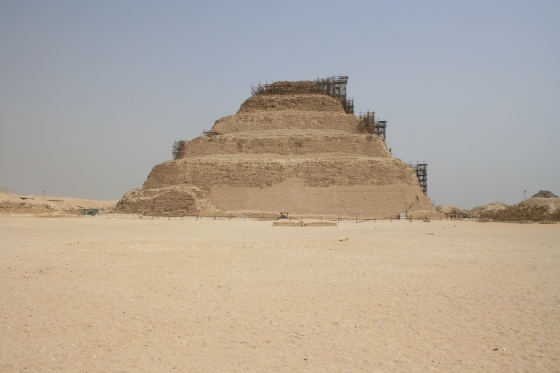 The Step Pyramid of Djoser at Saqqara.