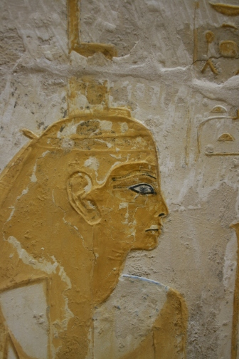 Depiction of Isis in the tomb of Maya.