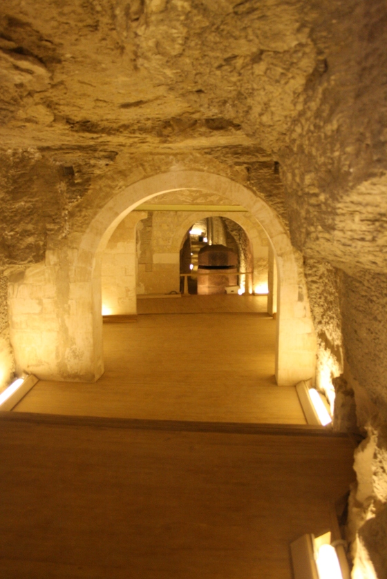 Inside the Serapeum.