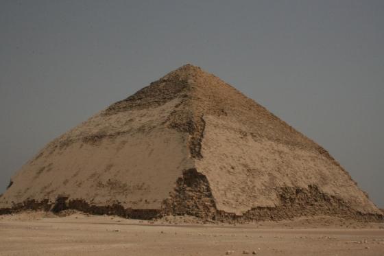 The Bent Pyramid of Sneferu at Dahshur.
