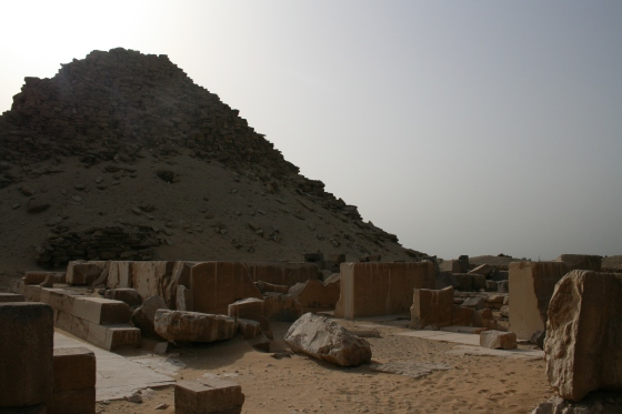 The pyramid and sun temple complex of Niuserre at Abu Ghurab.