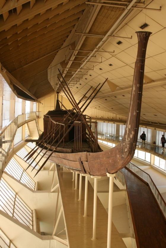 The solar boat of Khufu at Giza.