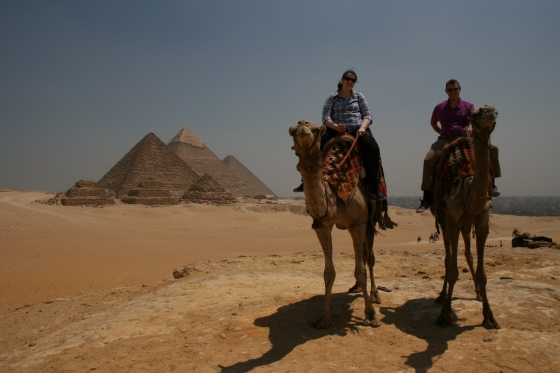 My fiancé and I on our Giza camel ride.