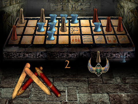 Screenshot of Egyptian Senet for iOS (Source: Daily Game).